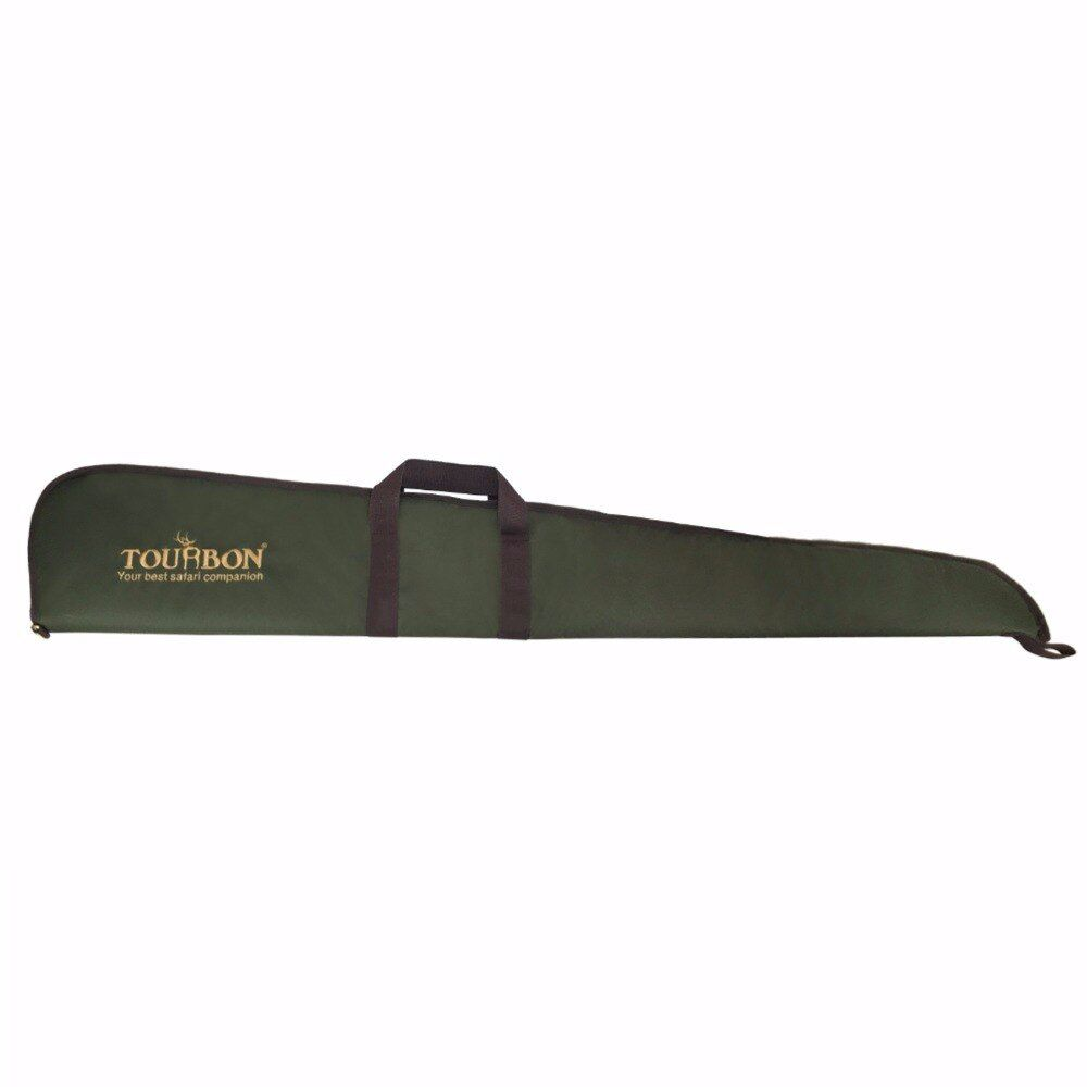 Tourbon Hunting Accessories Tactical Shotgun Case Gun Range Slip Padded Protection Bag Carry Heavy Duty Gun Case 128CM Green