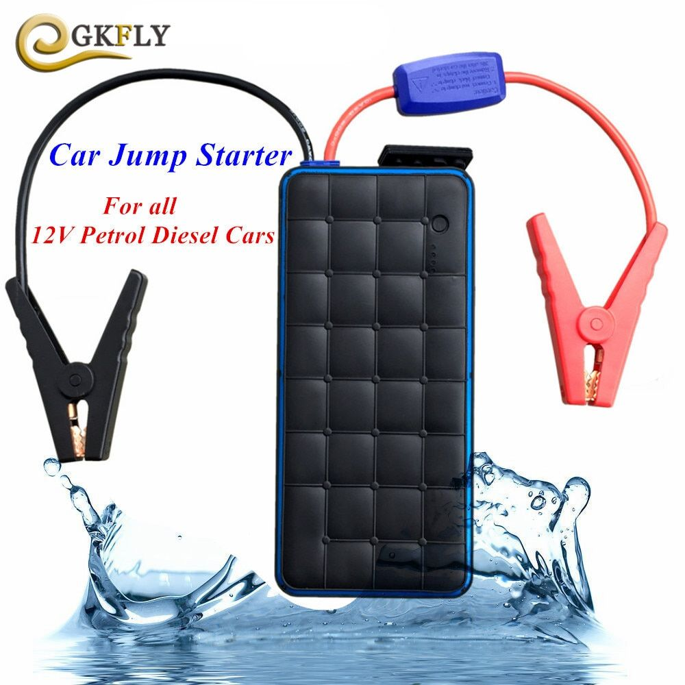 Super Waterproof 1000A Petrol Diesel Car Jump Starter Portable Power Bank Starting Device Car Charger For Car Battery Booster CE