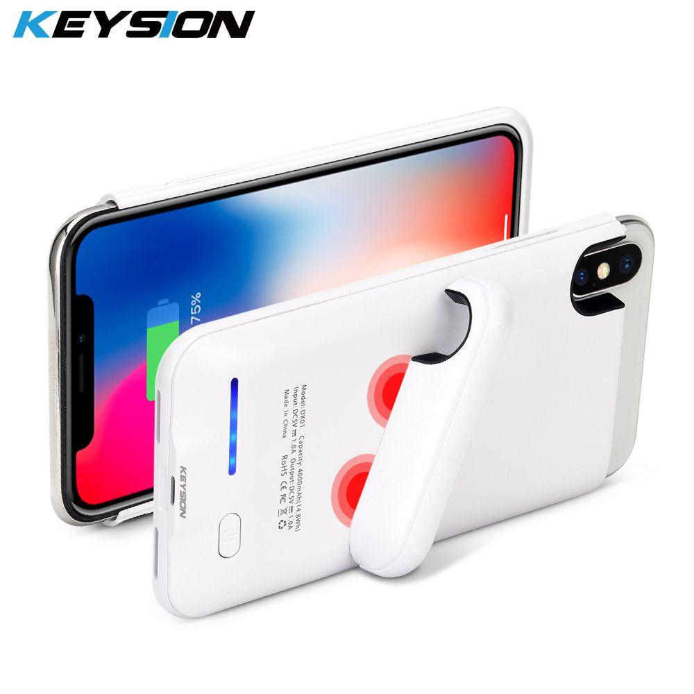 KEYSION 4000mAh Power Bank Case for iPhone X Ultra Slim Portable Charging External Backup Battery Charger Case for iphone X