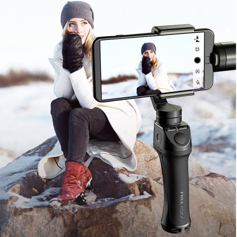 Freevision Vilta-M 3-axis Handheld Gimbal Smartphone Stabilizer for iPhone Xs Samsung GoPro HERO5 6 7 Yi 4K pk dji osmo mobile 2