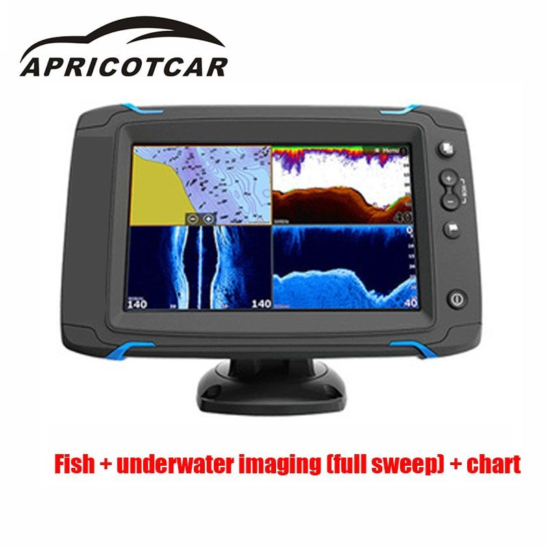 7-inch Touch Screen GPS Navigation Side Sweep Full Sweeps Na Touch Screen Touch Side Scan Sea Map Probe Device Fish Detector