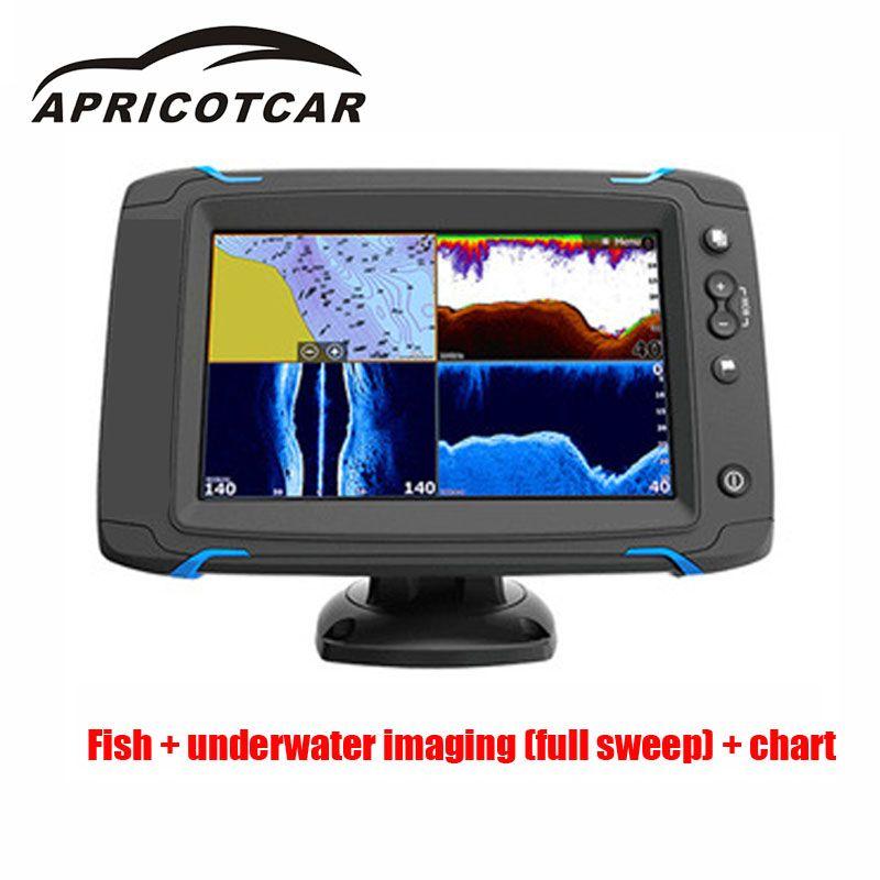 7-zoll Touch Screen GPS Navigation Seite Sweep Volle Sweeps Na Touchscreen Touch Seite Scan Meer Karte Sonde gerät Fisch Detektor