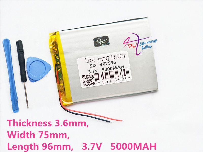 Litre d'énergie batterie Tablette pc 367596 3.7 v 5000 mah Q88 tablette batterie Li-ion batterie pour tablette pc 7 pouce 8 pouce 9 pouces