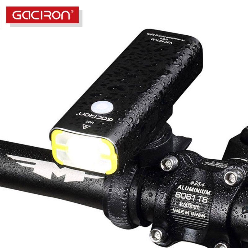 GACIRON cyclisme LED étanche lumières usb rechargeable mini vélo 400 Lumens guidon avant lumière vélo accessoires