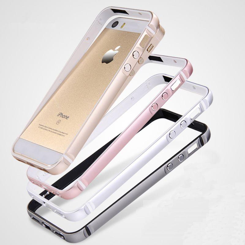 CAPSSICUM 5 5S SE Pare-chocs Cas pour iPhone 5 5S SE Tpu + Dur En Aluminium Châssis En Alliage de Métal De Luxe de Haute Qualité