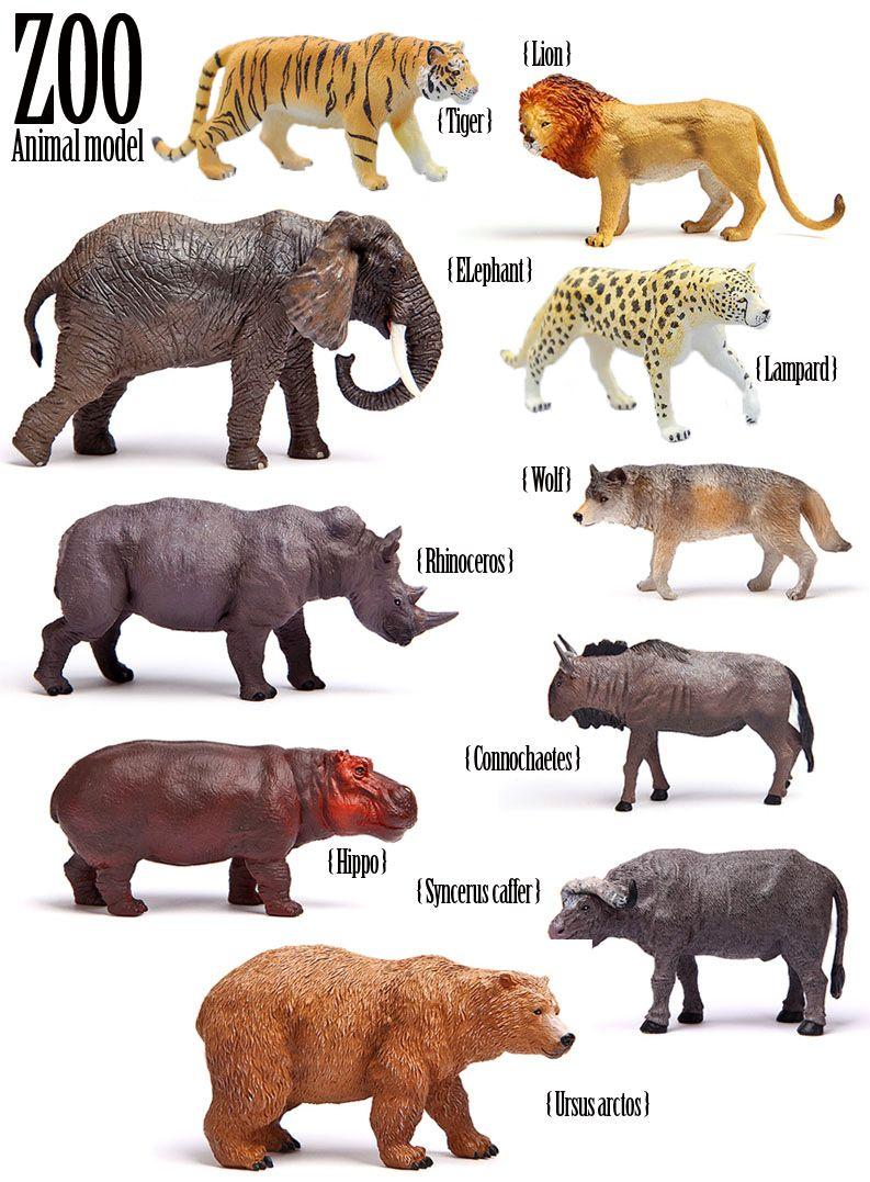 Livraison gratuite modèle de Simulation de bonne qualité des animaux sauvages jouets tigre GNU léopard rhinocéros loup LION hippopotame BISON éléphant