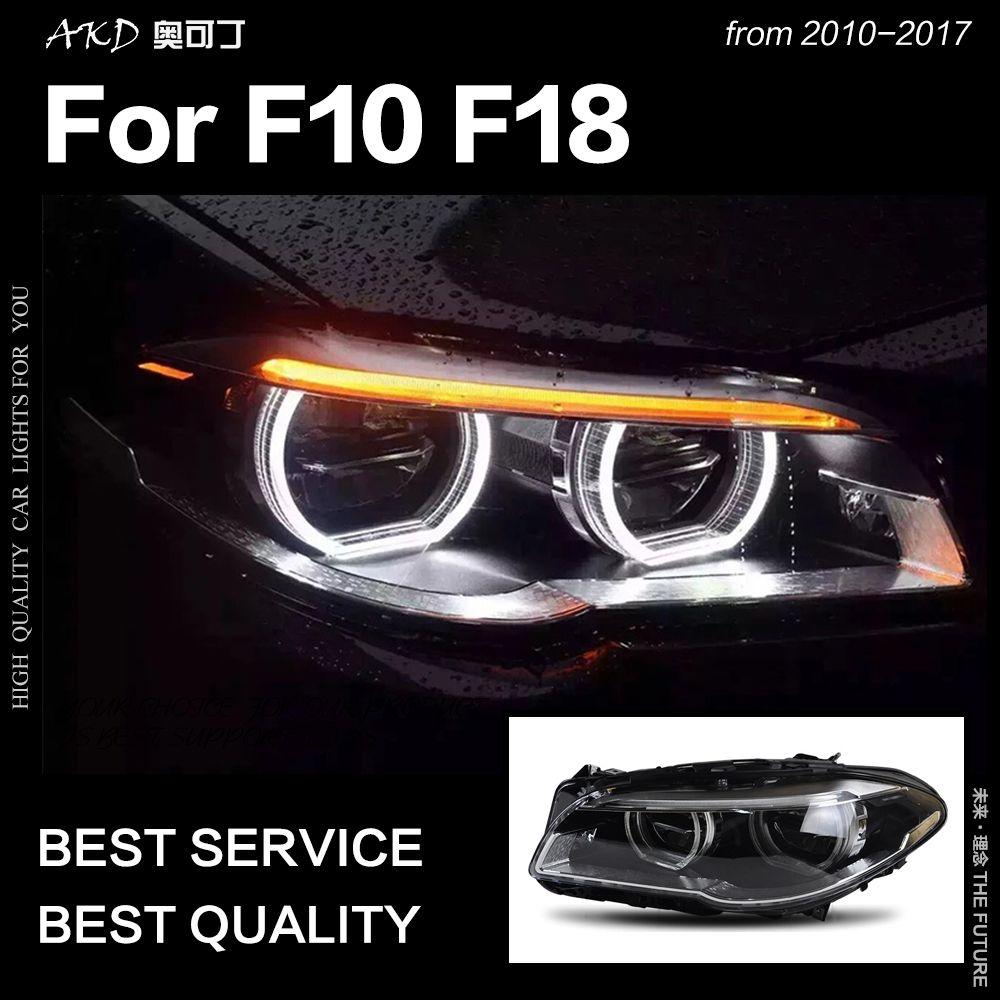 AKD Auto Styling Kopf Lampe für F10 F18 Scheinwerfer 2010-2016 520i 525i 530i Alle LED Scheinwerfer DRL Hid bi Xenon Auto Zubehör