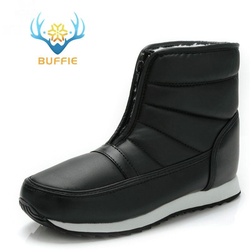 men winter boots big yards short style snow boots warm fur waterproof <font><b>upper</b></font> antiskid outsole father grandfather boy winter boots