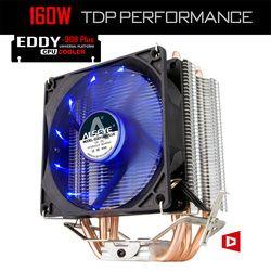 ALSEYE 4 Heatpipes CPU Refroidisseur TDP 160 W 90mm LED CPU Ventilateur En Aluminium Radiateur pour LGA 775/1150/1151/1155/1156/1366 & FM1/2, AM2 +/3 +