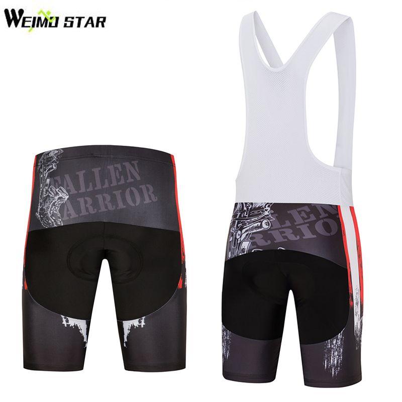 WEIMOSTAR USA Mens Bicycle Bib Short Tights 3D Padded Cycling Shorts Shockproof Shorts <font><b>Road</b></font> Bike Shorts Ropa Ciclismo