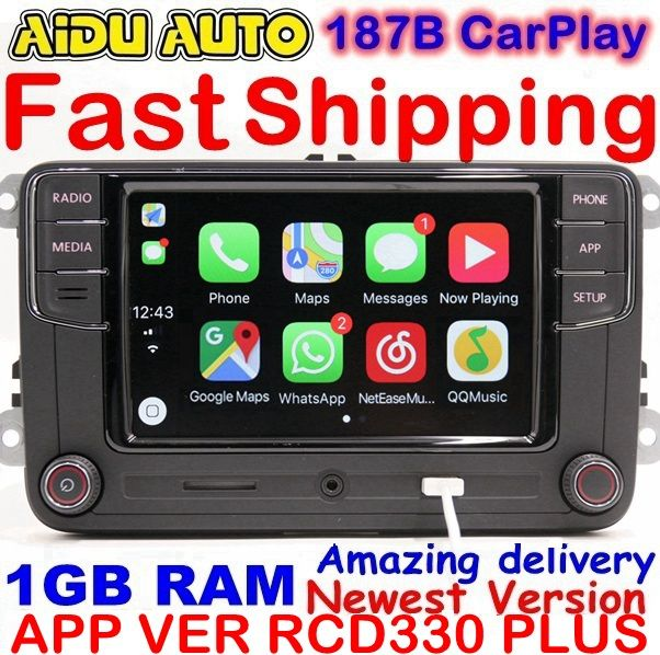 RCD330 Plus RCD330G Carplay MIB Radio For VW Golf 5 6 Jetta MK5 MK6 CC Tiguan Passat B6 B7 Polo Touran 6RD035187B Mirrorlink 1GB
