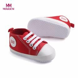 MUQGEW Toddler Shoes Newborn Infant Baby Boys Girls Solid Canvas Anti-slip Soft Shoes Sneaker Fashion Patch Cotton Shoe For baby