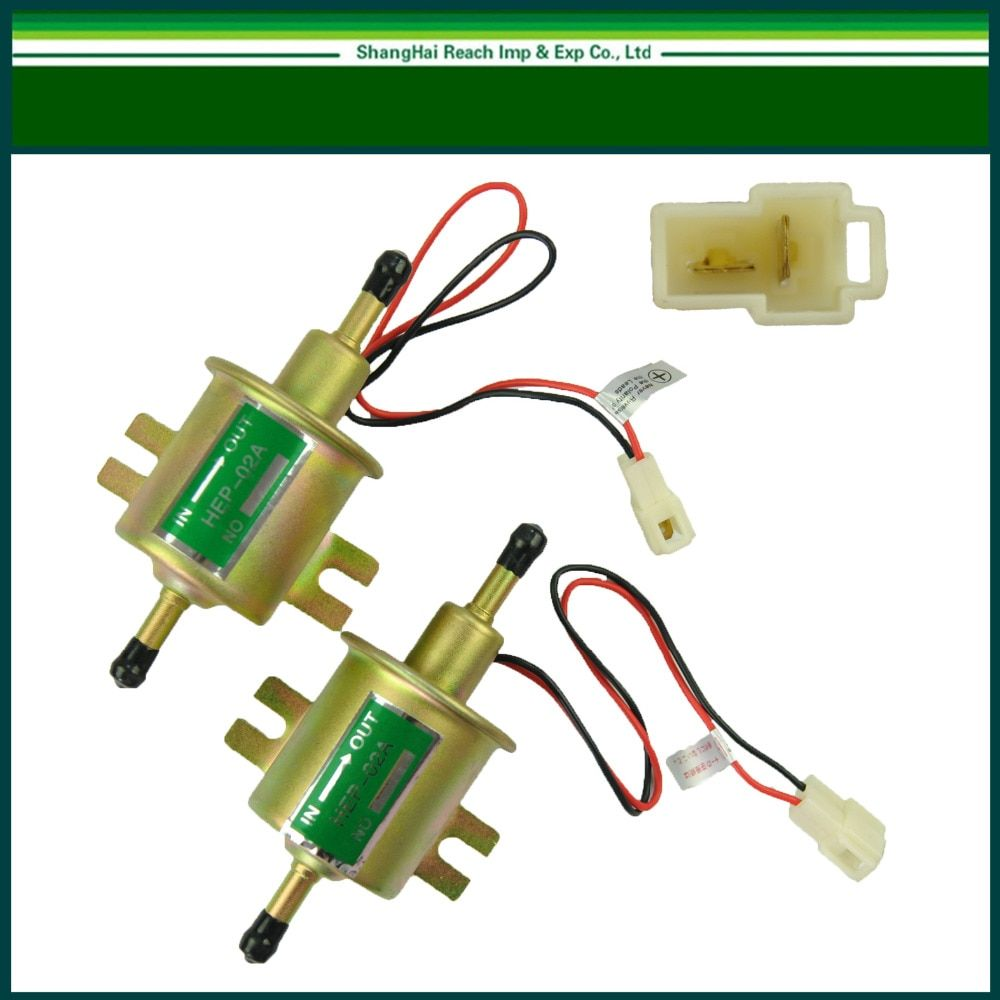 1 Pair set 12V Universal liquid Petrol Gasoline Gas liquid Inline Low Pressure Electric Fuel Pump HEP-02A 6-9PSI