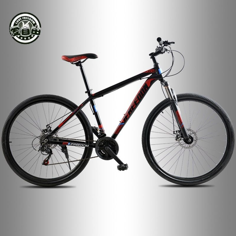 Love Freedom <font><b>High</b></font> Quality 29 Inch Mountain Bike 21 Speed Aluminum Frame Bicycle Front And Rear Mechanical Disc Brake