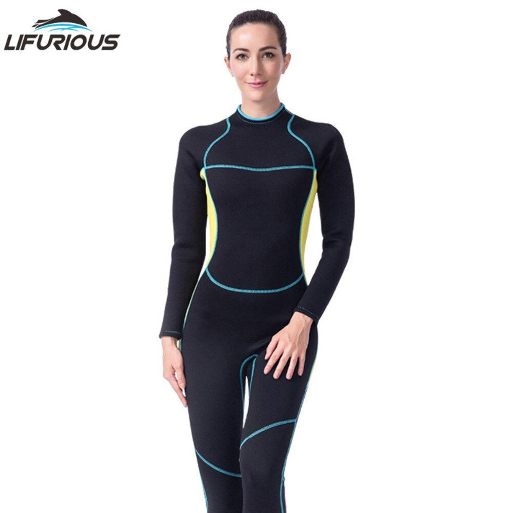 2018 Female Long-Sleeved Scuba Diving Suit Neoprene Women One Piece Swimsuit Spearfishing Wetsuits Surfing Swimwear Wetsuit