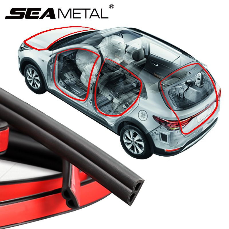 Voiture caoutchouc joint autocollants coffre porte bord EPDM caoutchouc insonorisation bandes d'étanchéité autocollant Automobiles accessoires d'intérieur