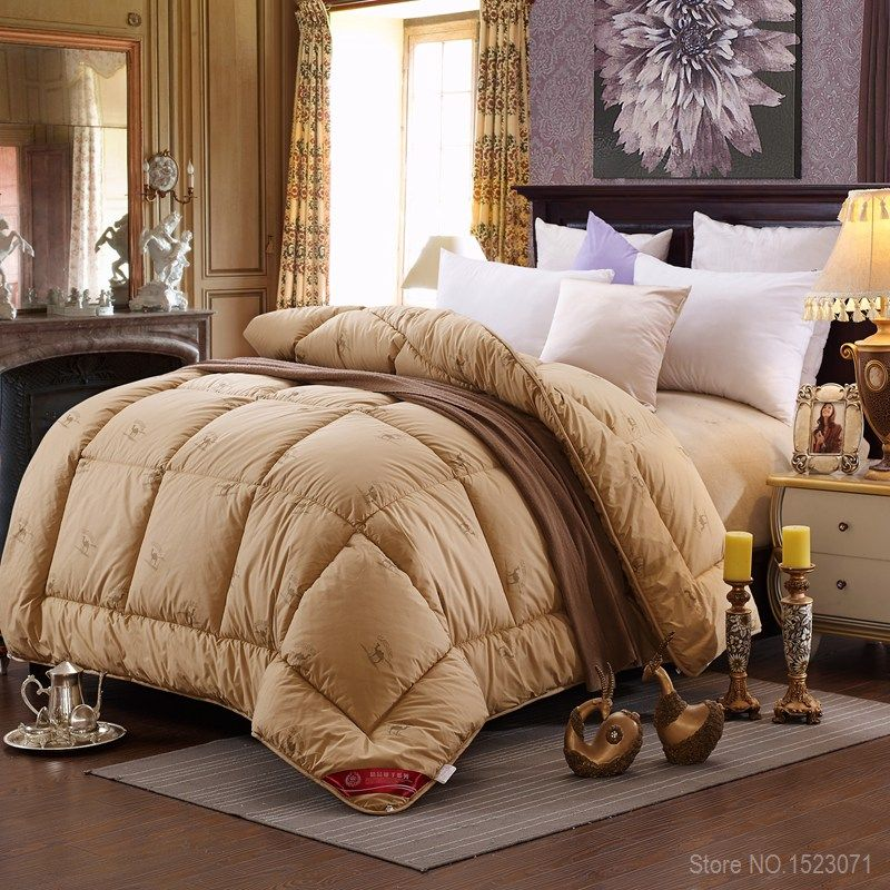 1.7~4.7kg winter camel hair/wool quilt luxury thicken stitching comforter/duvet/blanket king queen twin size fast free shipping