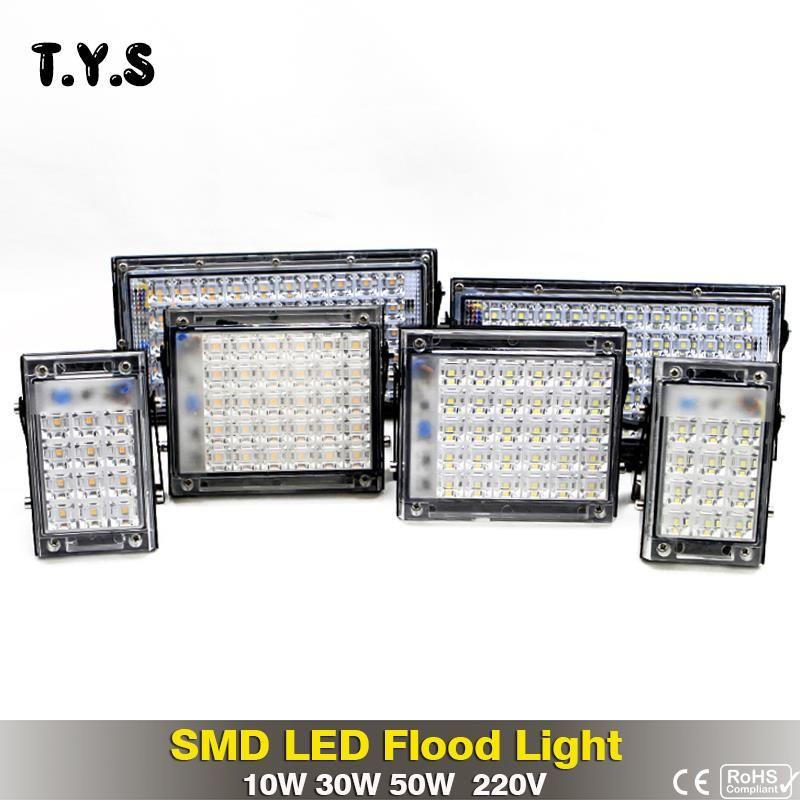 Ultradünne Helle SMD LED Flutlicht 50 watt 30 watt 10 watt 220 v IP65 Wasserdichte Flutlicht Led-strahler Garten wand Lampe Außen Beleuchtung