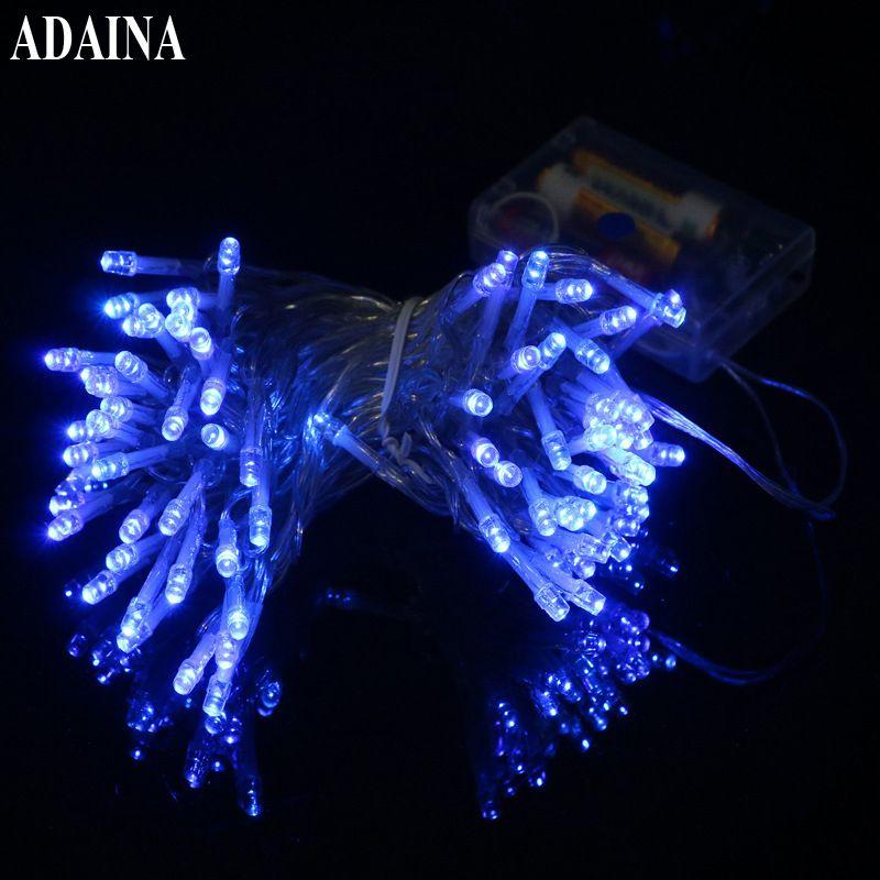 3AA Batterie 1 Mt/2 Mt/3 Mt/5 Mt/10 Mt 100 LEDs Lampe Garten licht Kupferdraht String Licht Freien Fairy Lampe Für Hochzeit Dekoration