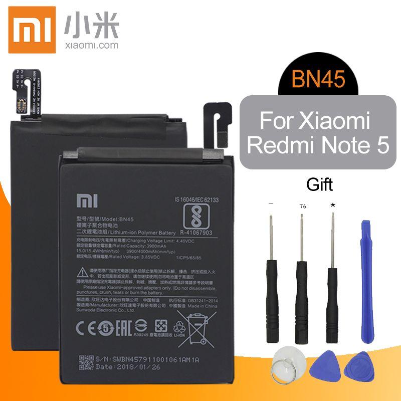 Xiao mi Original BN45 remplacement batterie de téléphone haute capacité 3900 mAh pour Xiao mi rouge mi Note 5 authentique Li-ion + outils