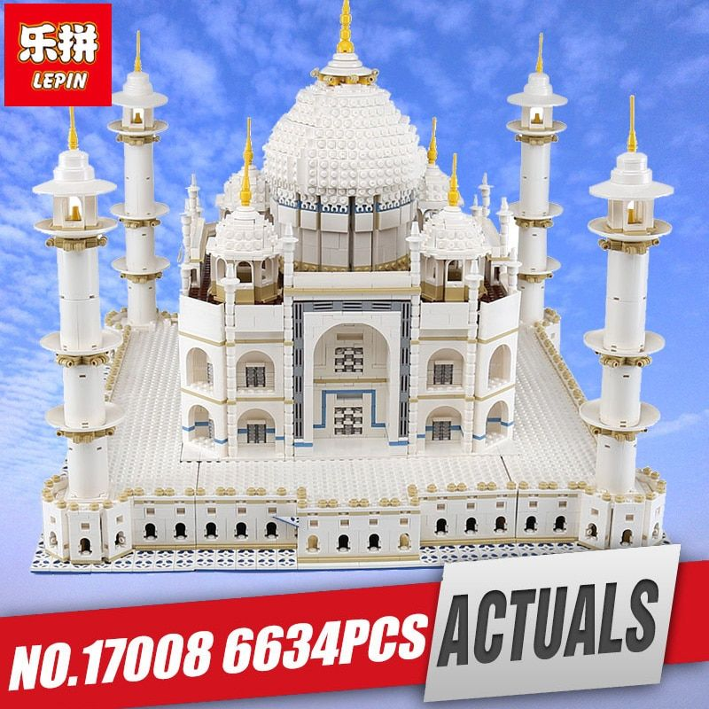 LEPIN 17008 The taj mahal Model Educational Building Kits Blocks Bricks Compatible With legoing 10189 Toy as Children Gift 17001