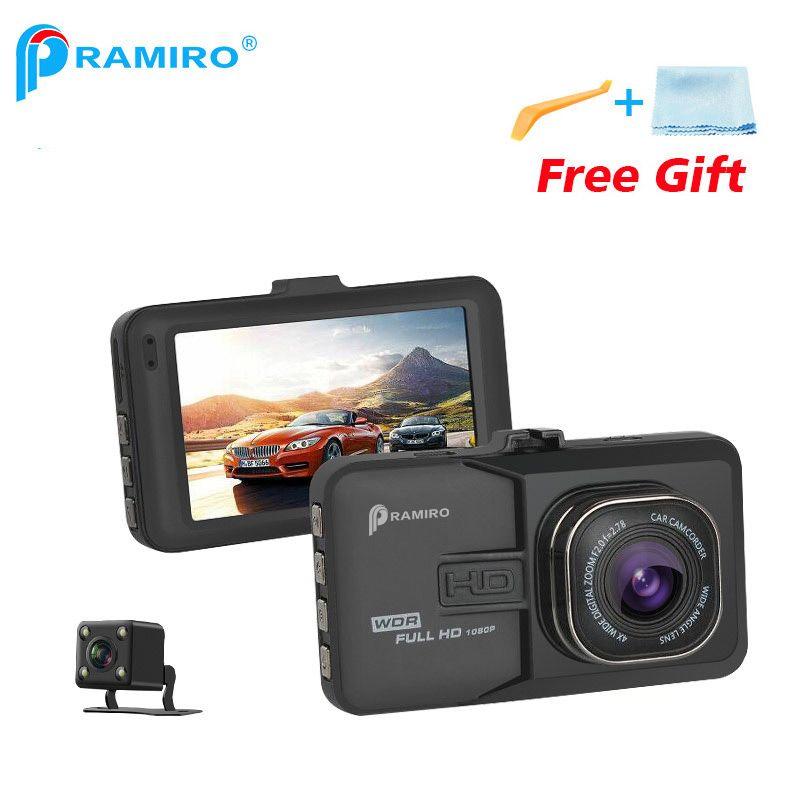 PRAMIRO DVR dash camera 1920x1080 Camera Resolution Car DVRs Dual Lens Car Video Recorder T636 registrator car camera