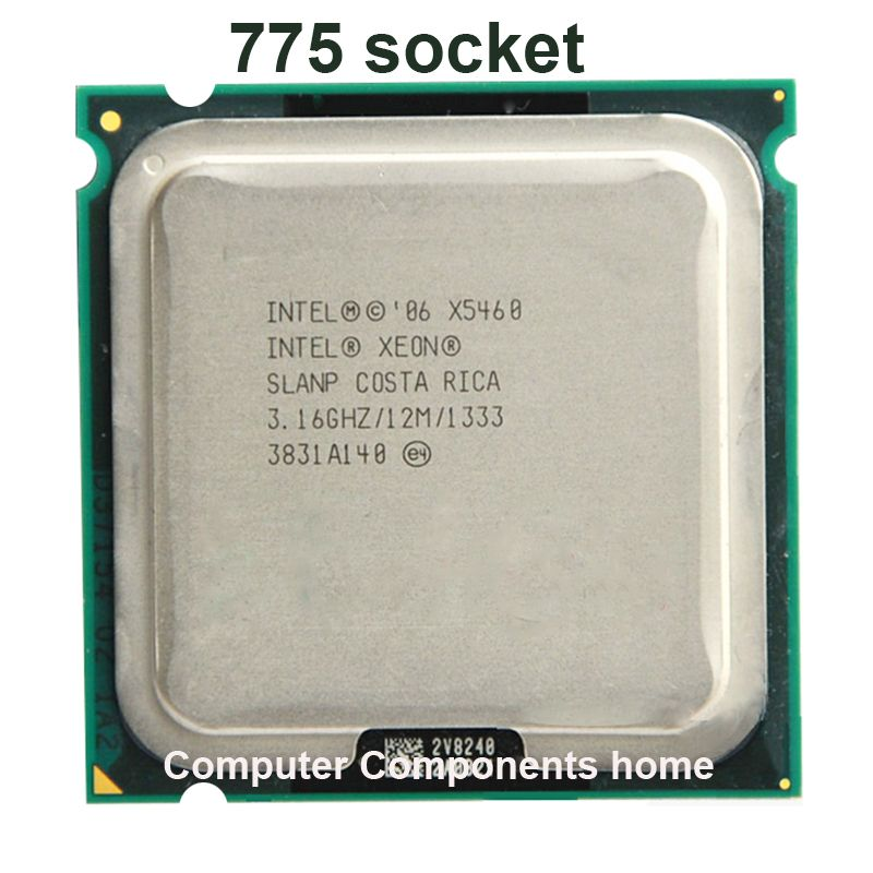 INTEL xeon X5460 LGA775  Processor (3.16GHz/12MB/1333MHz/LGA771) 771 to 775 CPU work on 775 motherboard warranty 1 year