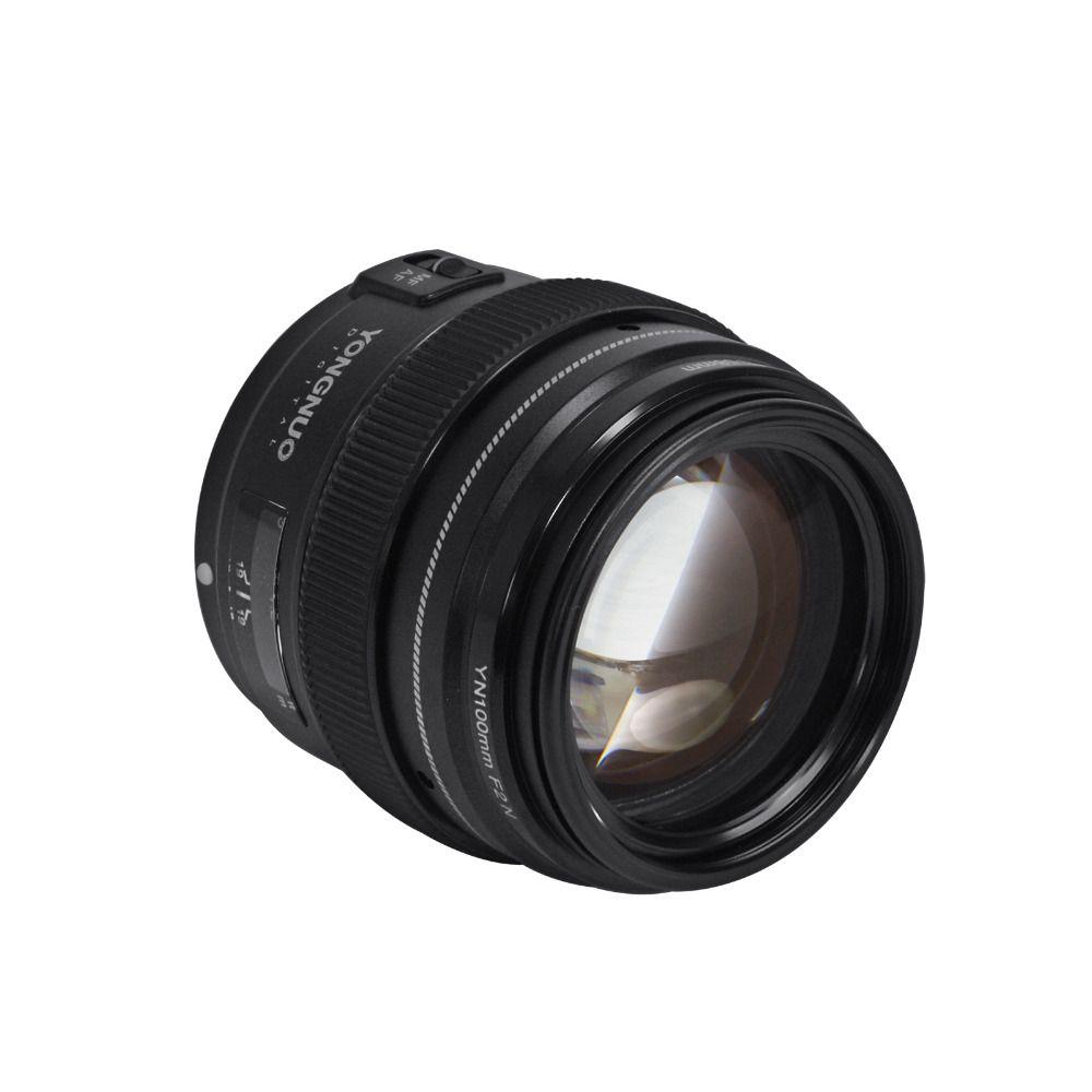 Yongnuo 100MM F2 Lens Large Aperture AF/MF Medium Telephoto Prime Len YN100mm For Nikon D7200 D7100 D7000 D5600