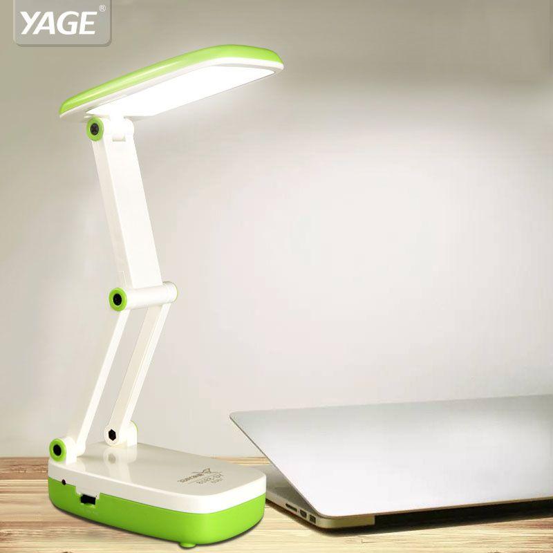 YAGE 5918 led lampe de bureau 2 Modes 1.6 W/90V240V Mini lampe de table 2-couche Pliable Corps USA/UE/ROYAUME-UNI Plug Bleu/Vert/Rose couleur pour travail