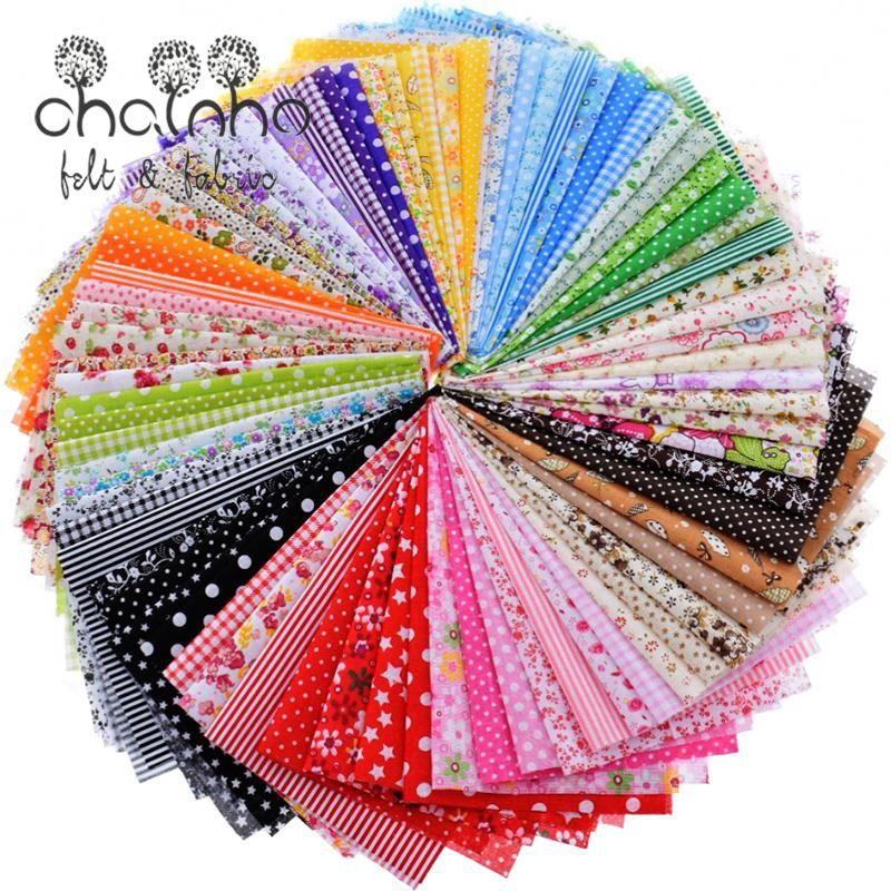 Aléatoire Mince Coton Tissu Patchwork Pour la Couture Scrapbooking Fat Quarters Tissu Couette Motif Couture Déchets 80 pcs 20*24 cm