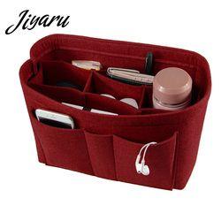 Kosmetik Tasche Filz Tuch tasche organizer einfügen kosmetische veranstalter tasche Multifunktionale Make-Up organizer tasche für frauen