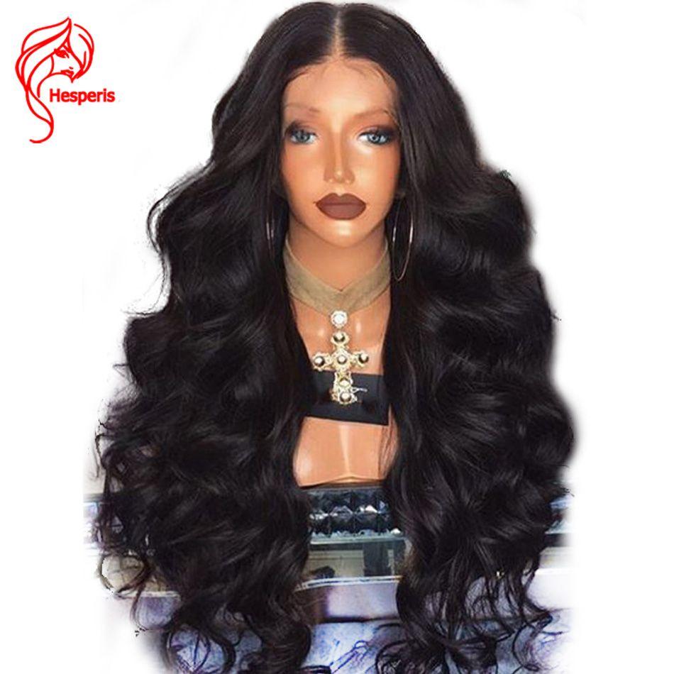 Hesperis 13*6 Pouces Partie Profonde Vague de Corps 180% Densité Avant de Lacet Perruques de Cheveux humains Brésiliens Remy Cheveux Dentelle Perruque Pour Les Femmes Noires