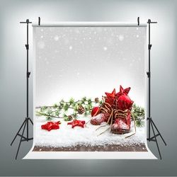 Christmas Photography Background Shoes Star Planet Fond Studio Scattered Snowflakes Background for Photographic Studio