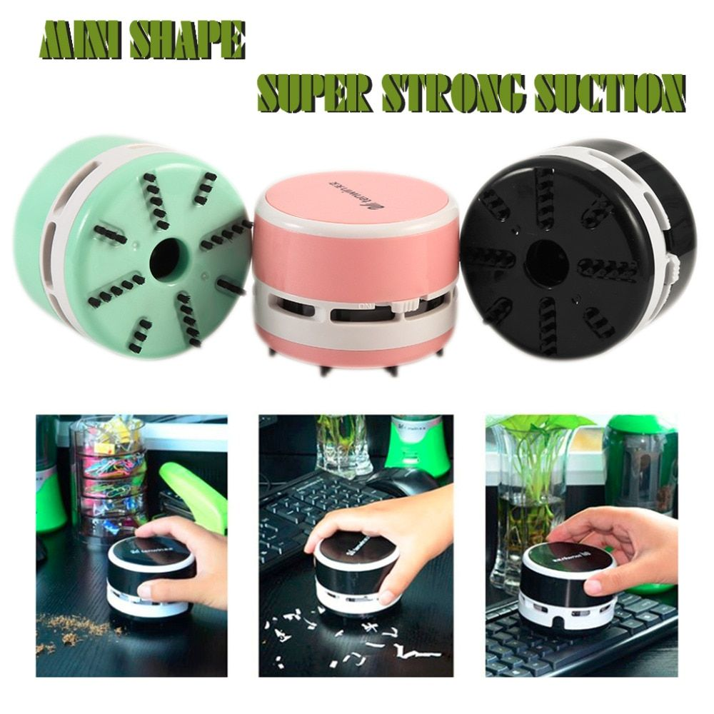 Hot Useful Portable Desktop Car Vacuum Cleaner Small Size Clean Scraps Machine  Dust Collector For Notebook Computer Keyboard