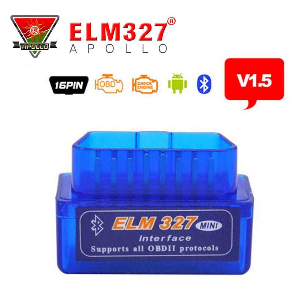 2017 A+ Quality Mini Tester OBD 2 Auto Diagnostic Scanner Newest Original V1.5 Super Mini ELM327 OBD2 OBD II Bluetooth ELM 327