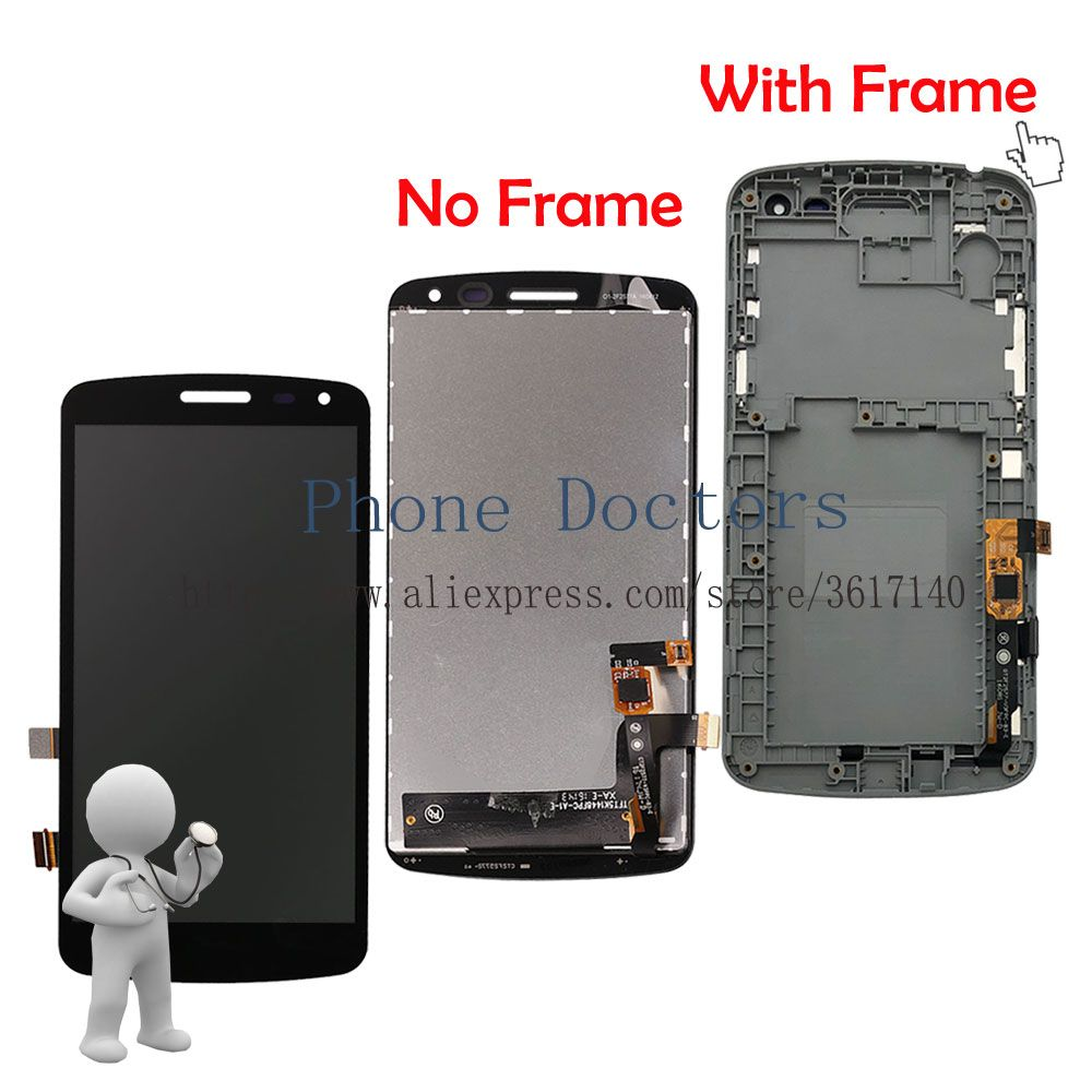 5.0'' New Full LCD DIsplay + Touch Screen Digitizer Assembly + Frame Cover For LG K Series K5 X220 X220MB X220DS ; 100% Tested