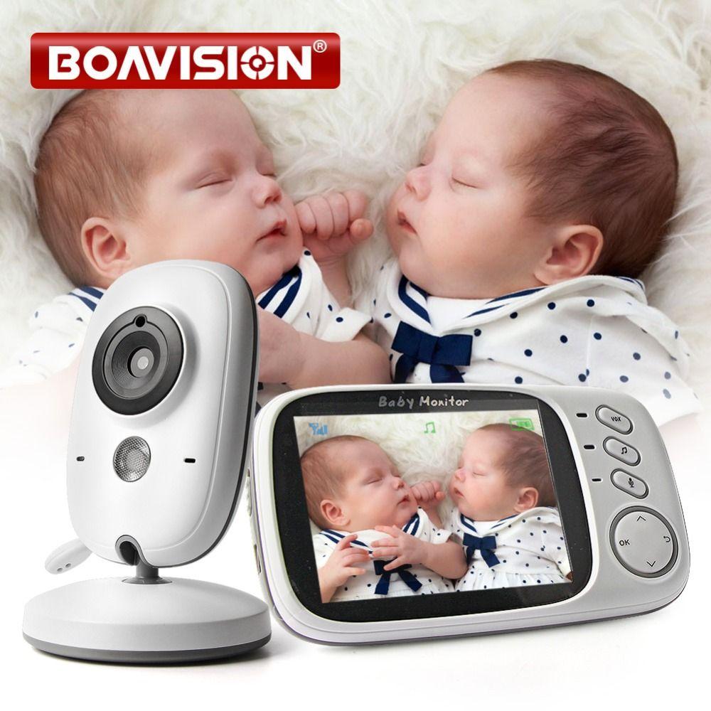 VB603 babyphone vidéo 2.4G Sans Fil Avec 3.2 Pouces LCD 2 Façon Audio Parler vision nocturne de Surveillance caméra de sécurité Baby-Sitter