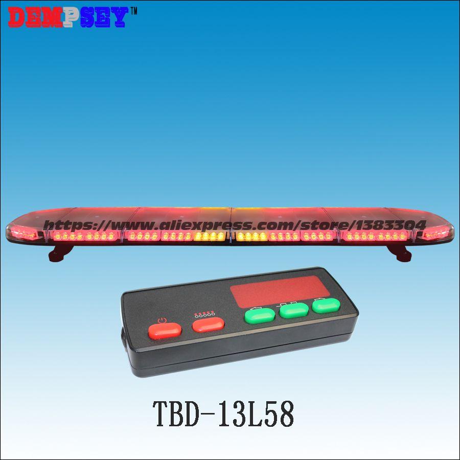 TBD-13L58 High quality super bright 59'' Red&Amber LED Warning lightbar,emergency/police lightbar, Car Roof Flash Strobe light