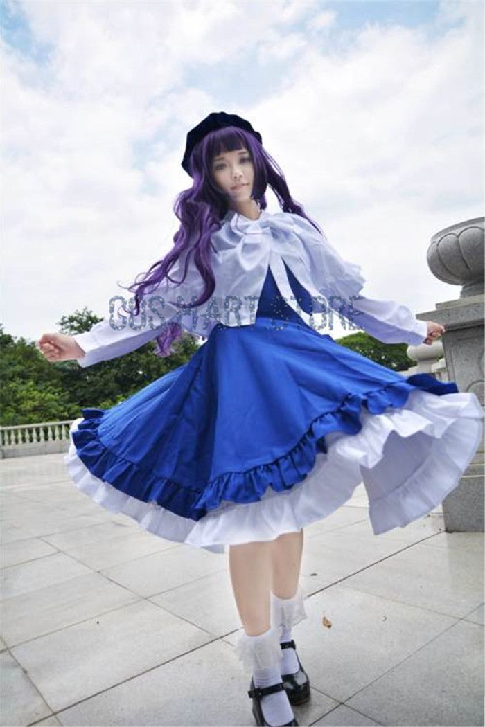 [Stock] 2017 Anime Cardcaptor Sakura Tomoyo Daidouji Strawberry Maid Uniform Women Fancy Kinomo Cosplay Costumes CARDCAPTOR