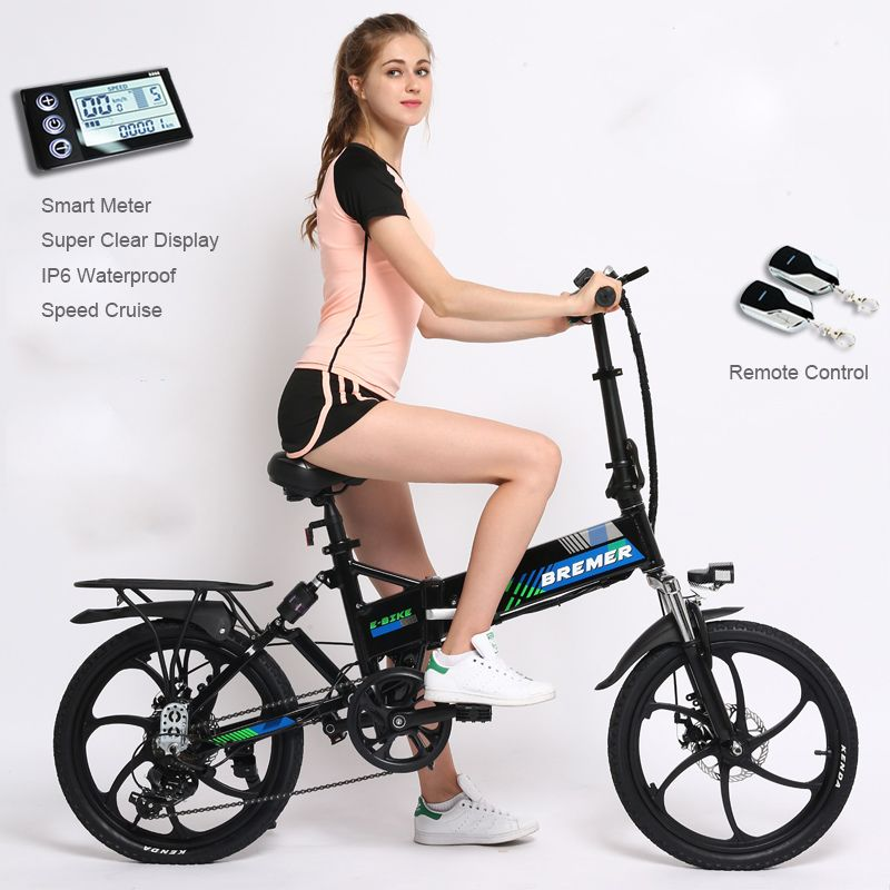 20 inch folding electric bicycle lithium battery bicycle mini adult Hidden battery ebike men and women 500W electric bike
