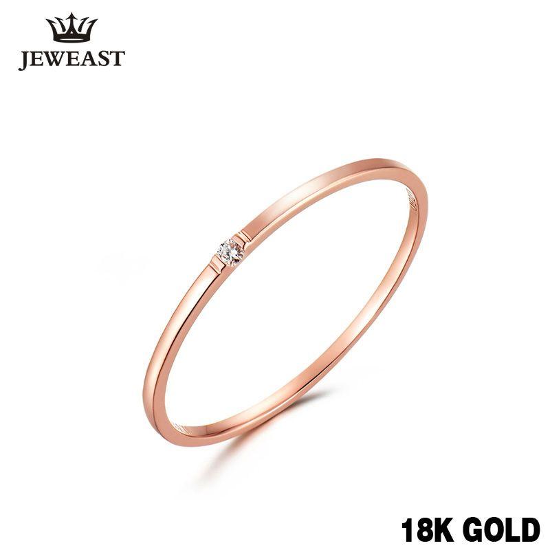 Natürliche diamant Ring 18 karat Reinem Gold Classic Girl geschenk Frauen heißer Verkauf Party Trendy Neue 2017 Rabatt nette Gute Ringe anpassen