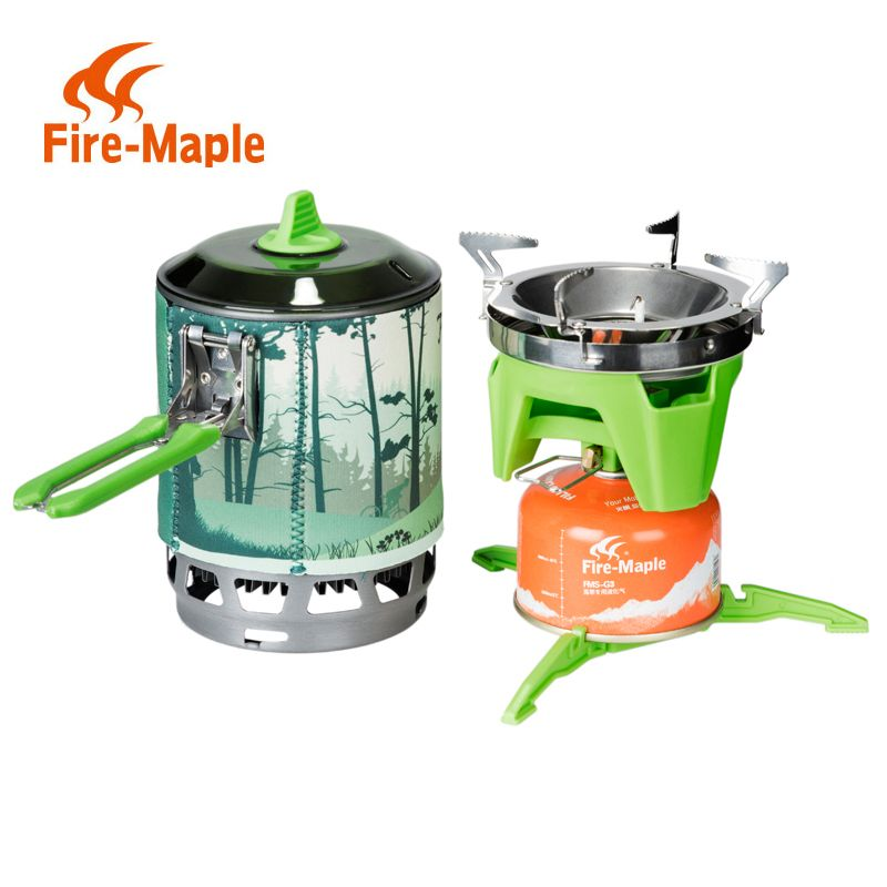 Fireplat X3 0.8L compact One-Piece Camping Stove Heat Exchanger Pot camping equipment set Flash Personal Cooking System
