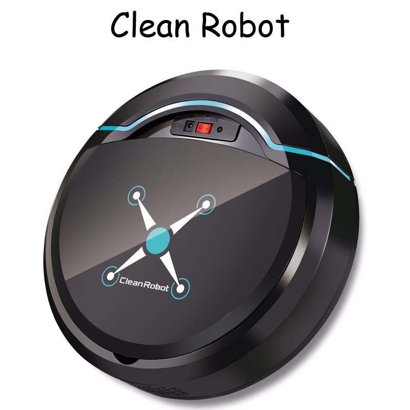 Robot de nettoyage automatique Rechargeable Robot de balayage intelligent sol saleté poussière cheveux nettoyeur automatique pour les aspirateurs électriques à la maison