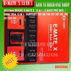 Asli Ewest Emate Box E-Mate X E MMC BGA 13 In 1 Dukungan BGA100/136/168/ 153/169/162/186/221/529/254 untuk Mudah Jtag Plus UFI Kotak