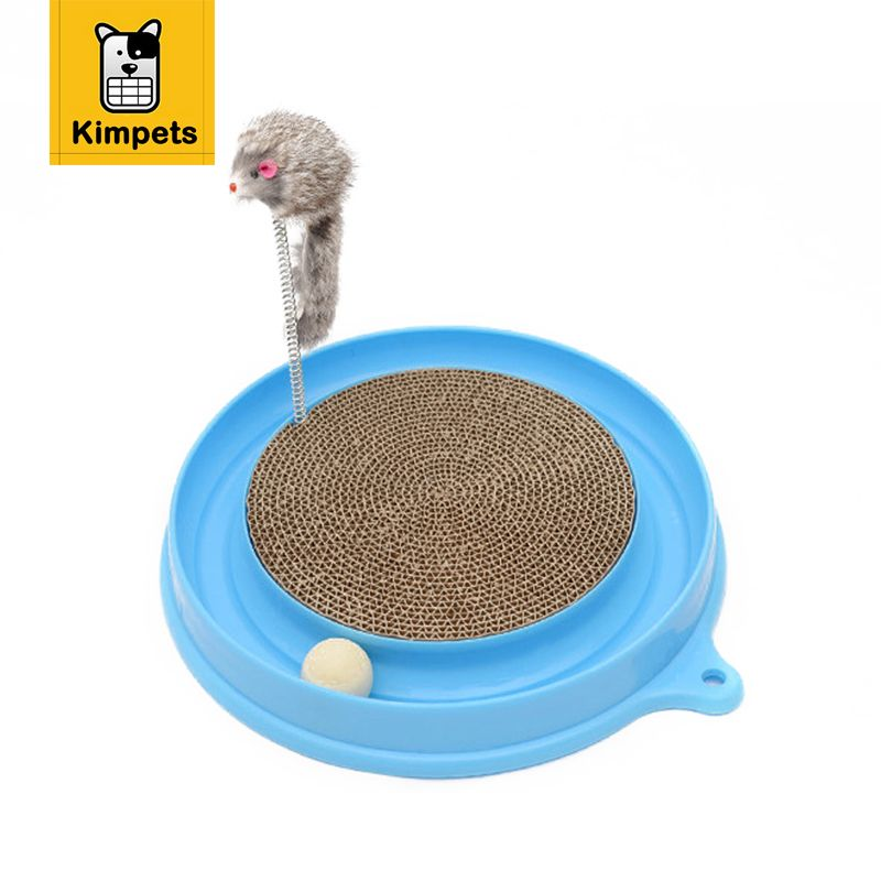 KIMHOME PET Bergan <font><b>Turbo</b></font> Scratcher Cat Toy With Mouse Handmade Cats Kitten Scratcher Training Toy Interactive Cat Play Ball Toys