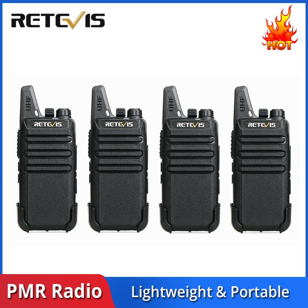 4 pcs RETEVIS RT622 RT22 Mini Walkie Talkie PMR Radio PMR446 446 FRS VOX Rechargeable Two Way Radio Station Handy Walkie-Talkie