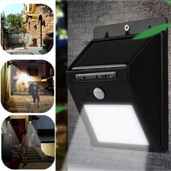 LED Solar Powered Wireless Security Waterproof Motion Sensor Light 8 LED Light Outdoor Pathway Wall Lamp Lighting--M25