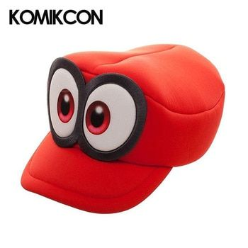 Super Mario Cosplay Hats Odyssey Bros Costumes Caps Anime Cappy Hat Big Eye Cap Accessories Gifts for Women Men Christmas Party