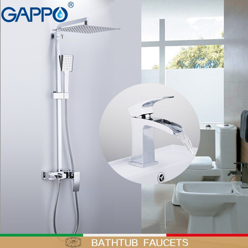 GAPPO Bathtub Faucets basin Faucet deck mounted basin sink faucet chrome polished taps brass wall bathroom faucet mixer
