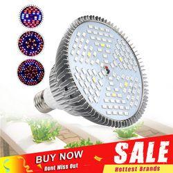 30W 50W 80W Full Spectrum LED Grow Light Phytolamp Tanaman Lampu LED Lampu Bohlam untuk Taman Kolam biji Bunga Tumbuh Kotak E27